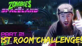 ZOMBIES IN SPACELAND FIRST ROOM CHALLENGE PART 2!! - Wrath of Angry Mike! (IW Zombies Challenges)