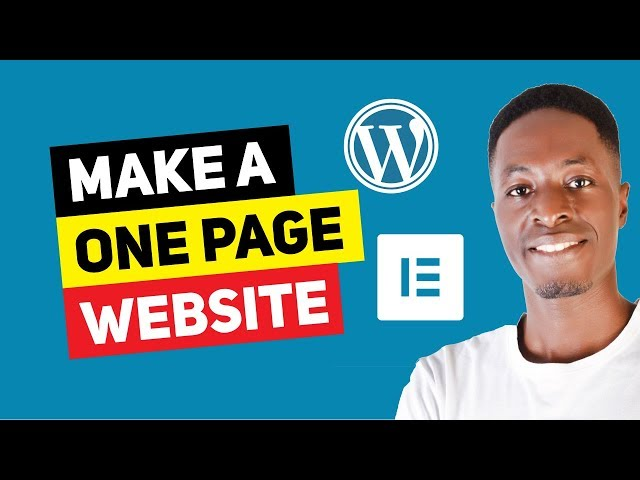 How To Make A One Page WordPress Website With Astra and Elementor for FREE