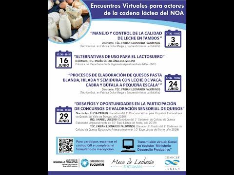 2° encuentro virtual: Alternativas de uso para el Lactosuero.