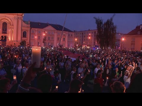 Protesters hold vigil over Polish Supreme Court law