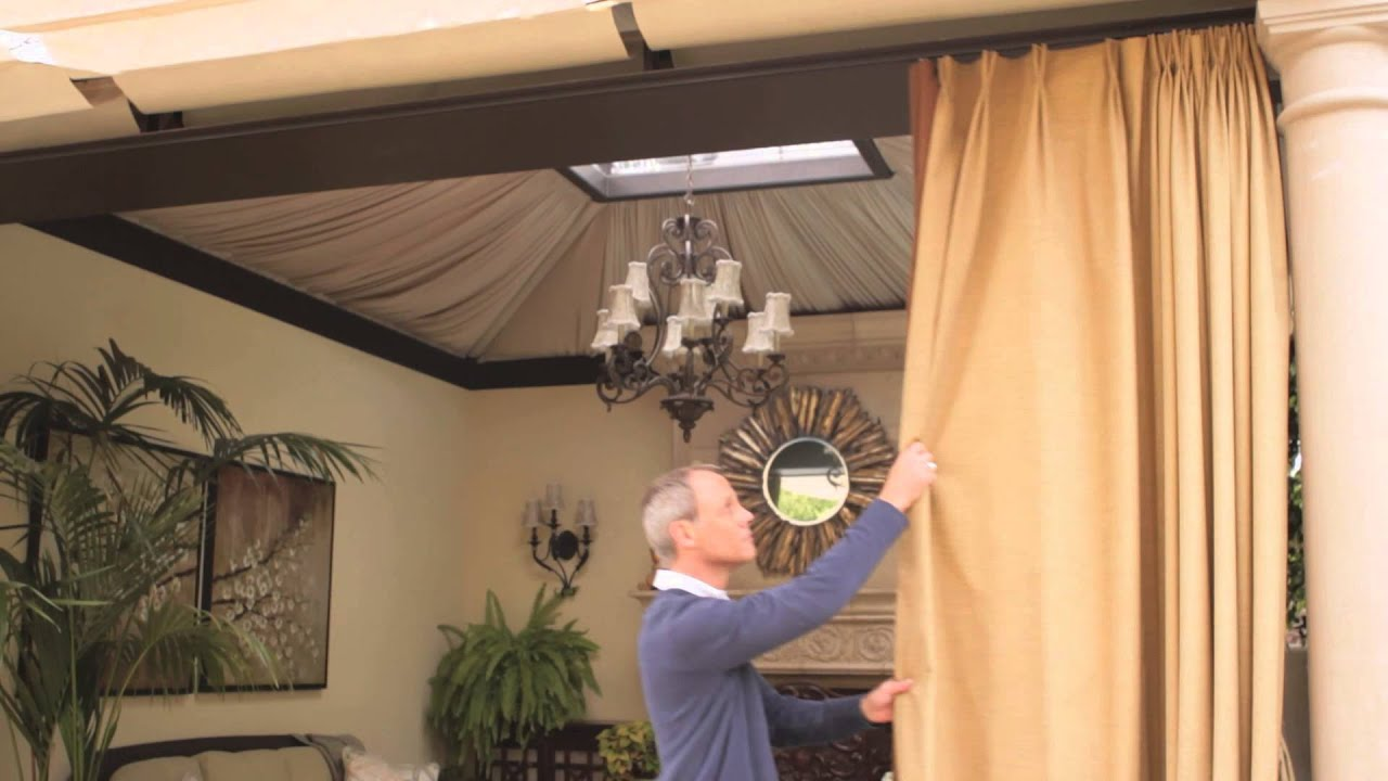 how to decorate an outside canopy : outdoor design - youtube