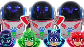 PJ Masks Super Moon Adventure transform PJ Robots! Defeat the villains, dinosaurs! #DuDuPopTOY