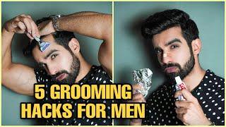 5 BEST GROOMING HAĊKS FOR MEN| HINDI Tips to Look Sexy | Skin,Hair, Blackheads, beardI TheFormalEdit