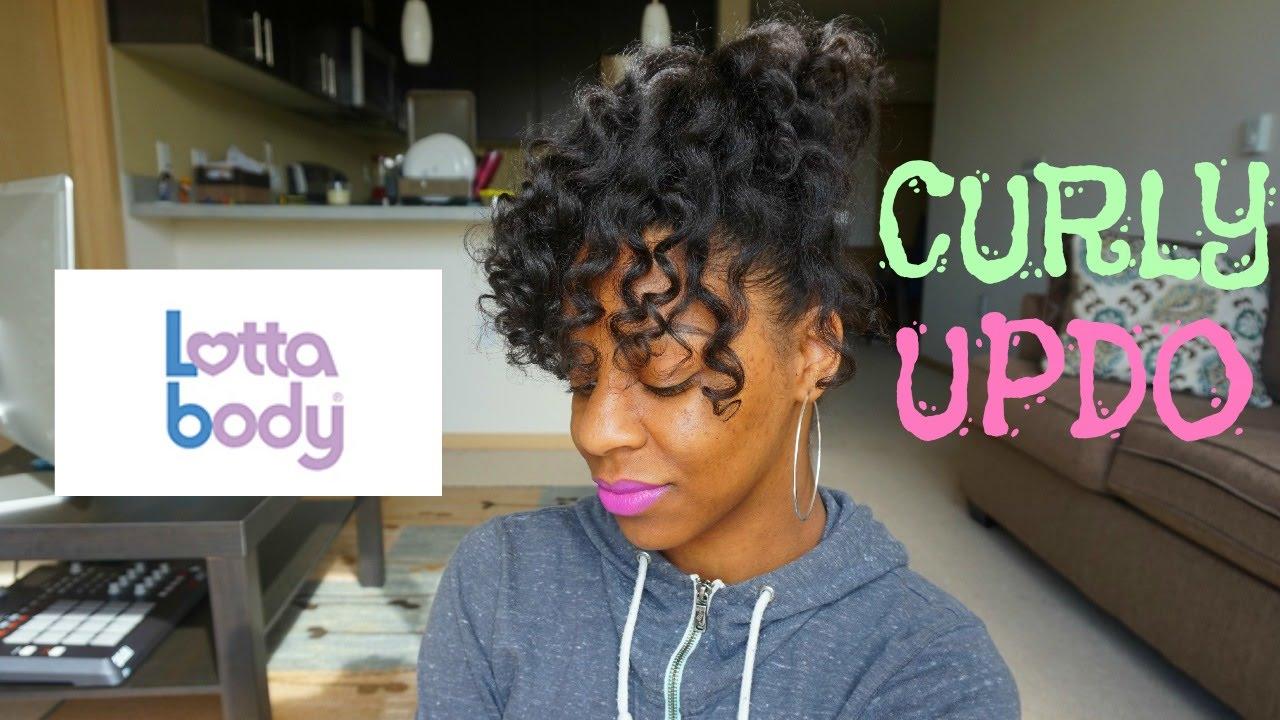 Natural Hair Curly Updo Heatless Tkeyah B Youtube