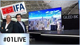 IFA 2018 : Samsung nous met l'eau à la bouche avec la 8K ! 01LIVE HEBDO  #195