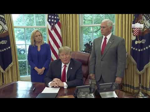 President Donald Trump signs VITAL Executive Order on Immigration