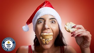 Fastest time to eat 3 mince pies - Guinness World Records