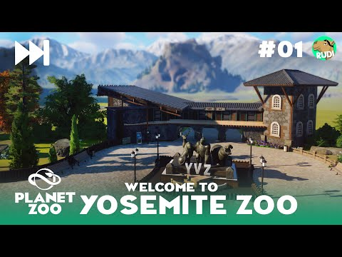 Yosemite Valley Zoo - The Valley - Planet Zoo Sandbox - Ep #01