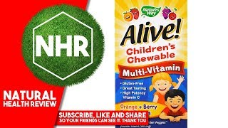 Nature's Way, Alive! Children's Chewable Multi Vitamin, Orange, Berry Fruit Flavors, 120 Chewable Ta