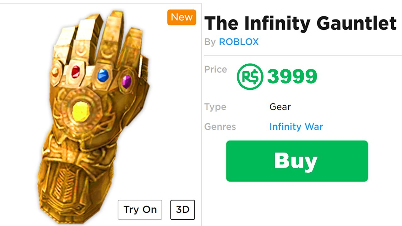 How To The Get The Infinity Gauntlet In Roblox Youtube