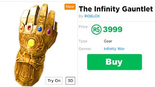 How to the get the INFINITY GAUNTLET in Roblox!!