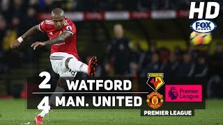 Watford vs Manchester United (2-4) RESUMEN EXTENDIDO - PREMIER LEAGUE 2017 HD