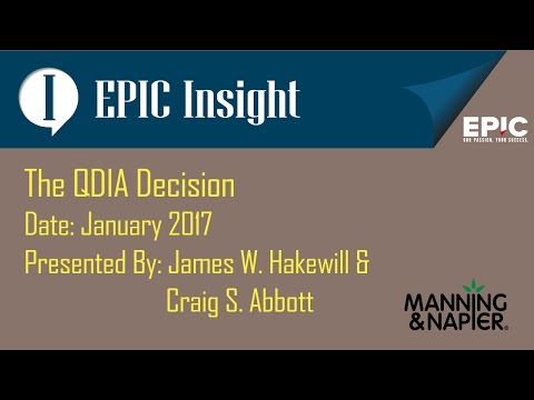 EPIC INSIGHT - The QDIA Decision
