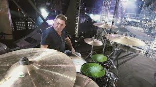 Григорий Лепс играет на барабанах / Ночные снайперы. 25 лет