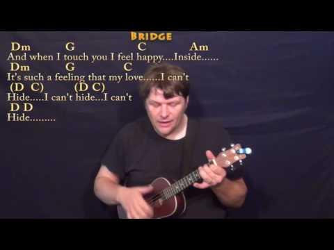 I Want To Hold Your Hand (Beatles) Ukulele Cover Lesson With Chords/Lyrics