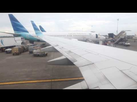 Garuda Indonesia taxi for parking at Soekarno Hatta Airport in Jakarta