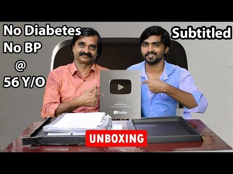 Youtube Silver Play Button Unboxing | Daddy's Health & Eating Secret Revealed | Saapattu Raman |