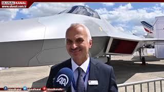 Türkiye'nin ilk yerli savaş uçağı, Paris'te görücüye çıktı