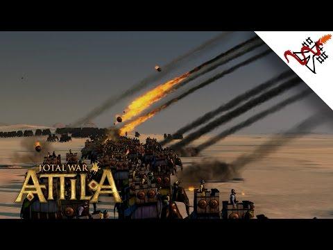 Total War: Attila - 200 Catapults vs 2200 War Elephants | MASSIVE Battle |