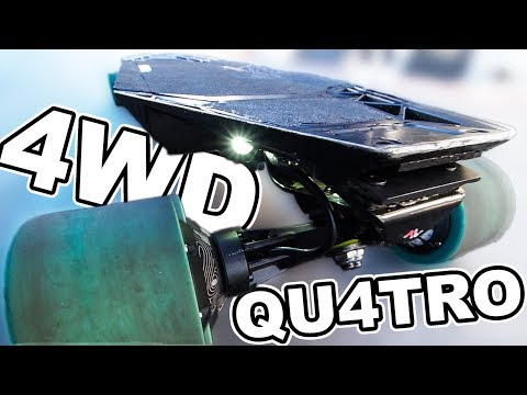 INSANE 4WD Electric Skateboard - Acton Qu4tro