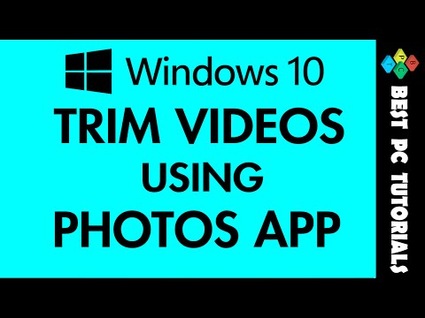 Windows 10- Trim Videos using Photos App