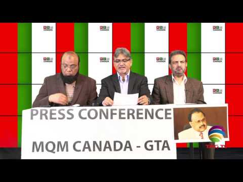 MQM Canada Press Conference over Ehsanullah Ehsan Issue