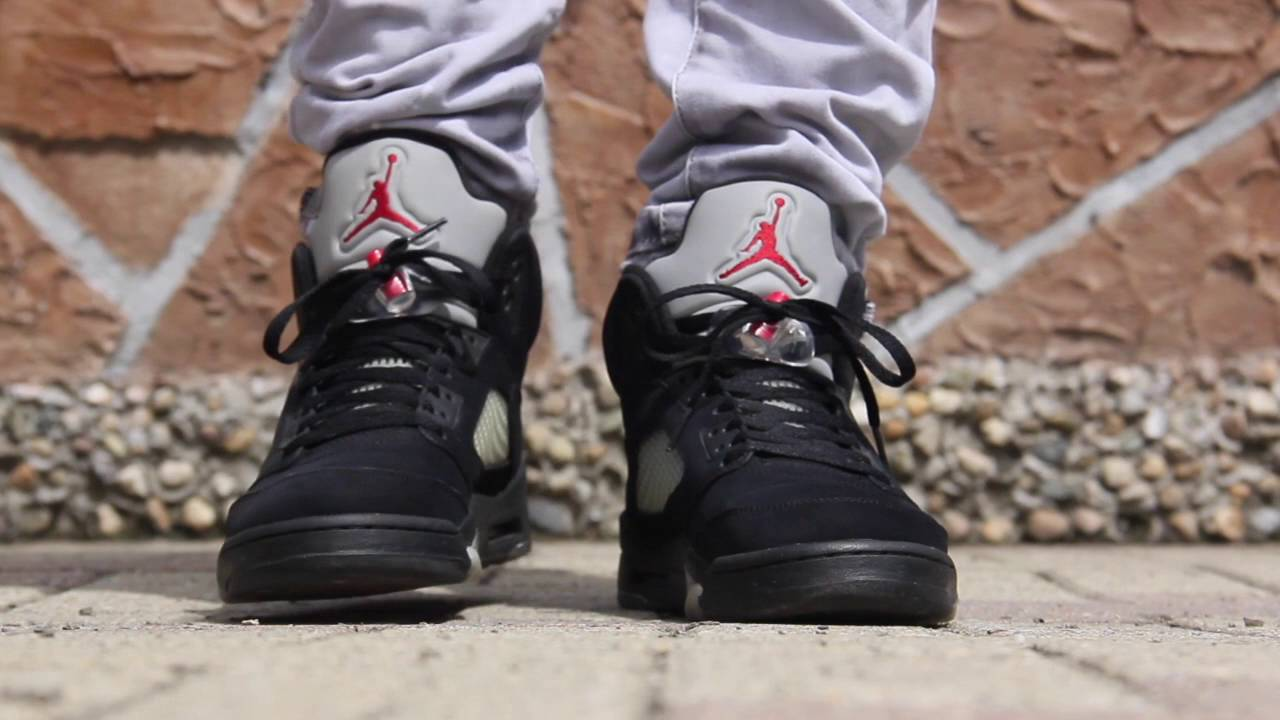 competitive price 8bde2 369f2 JORDAN 5 BLACK METALLIC 2011 ON FEET