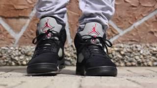 jordan 5 black metallic 2011 on feet
