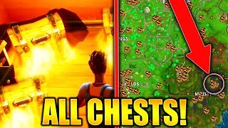FORTNITE SEARCH CHESTS IN MOISTY MIRE ALL CHEST LOCATIONS MOISTY MIRE CHESTS CHALLENGE!
