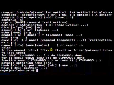 How to get the list of all internal commands in Unix