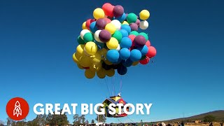 How One Man Flies Hundreds of Miles Using Balloons