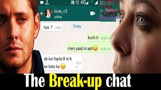 Gambar cover True Breakup Story, heart touching sad Whatsapp Chat Conversation | Whatsapp Status Video |