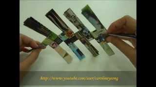 【CYS】纸编~废纸DIY置物篮の一:第一层
