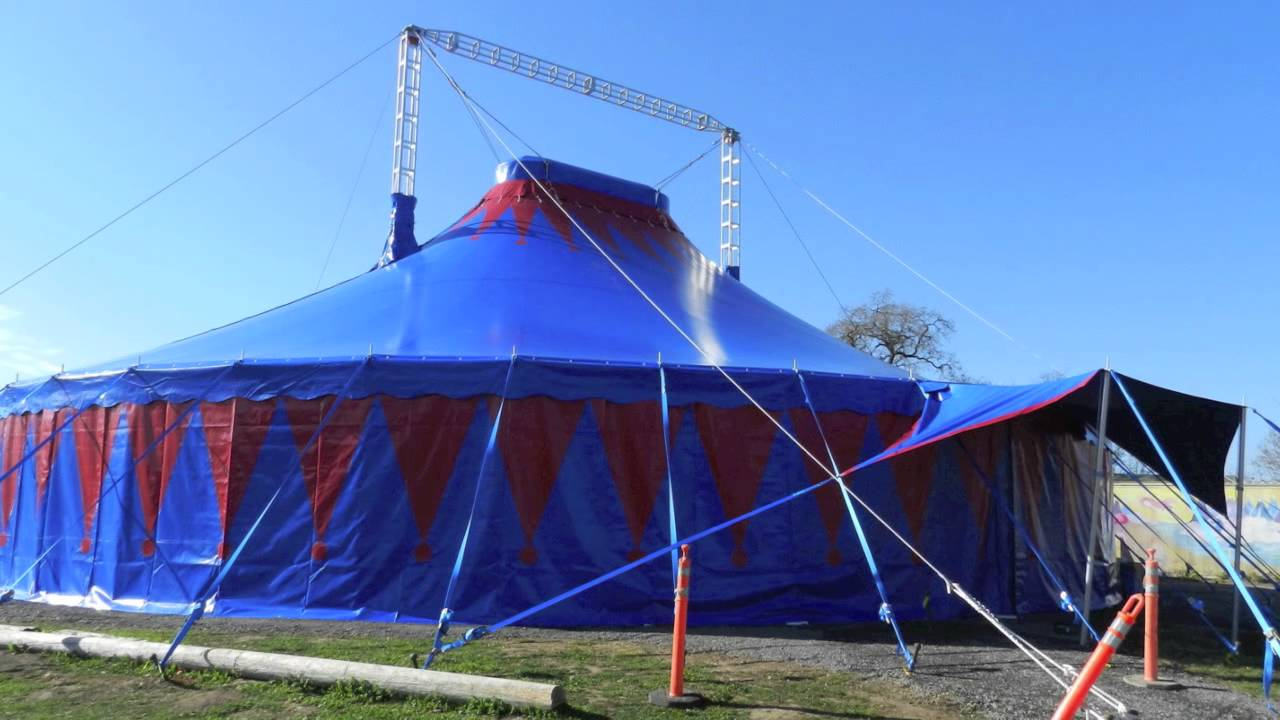 & CIRCUS TENT SETUP - YouTube