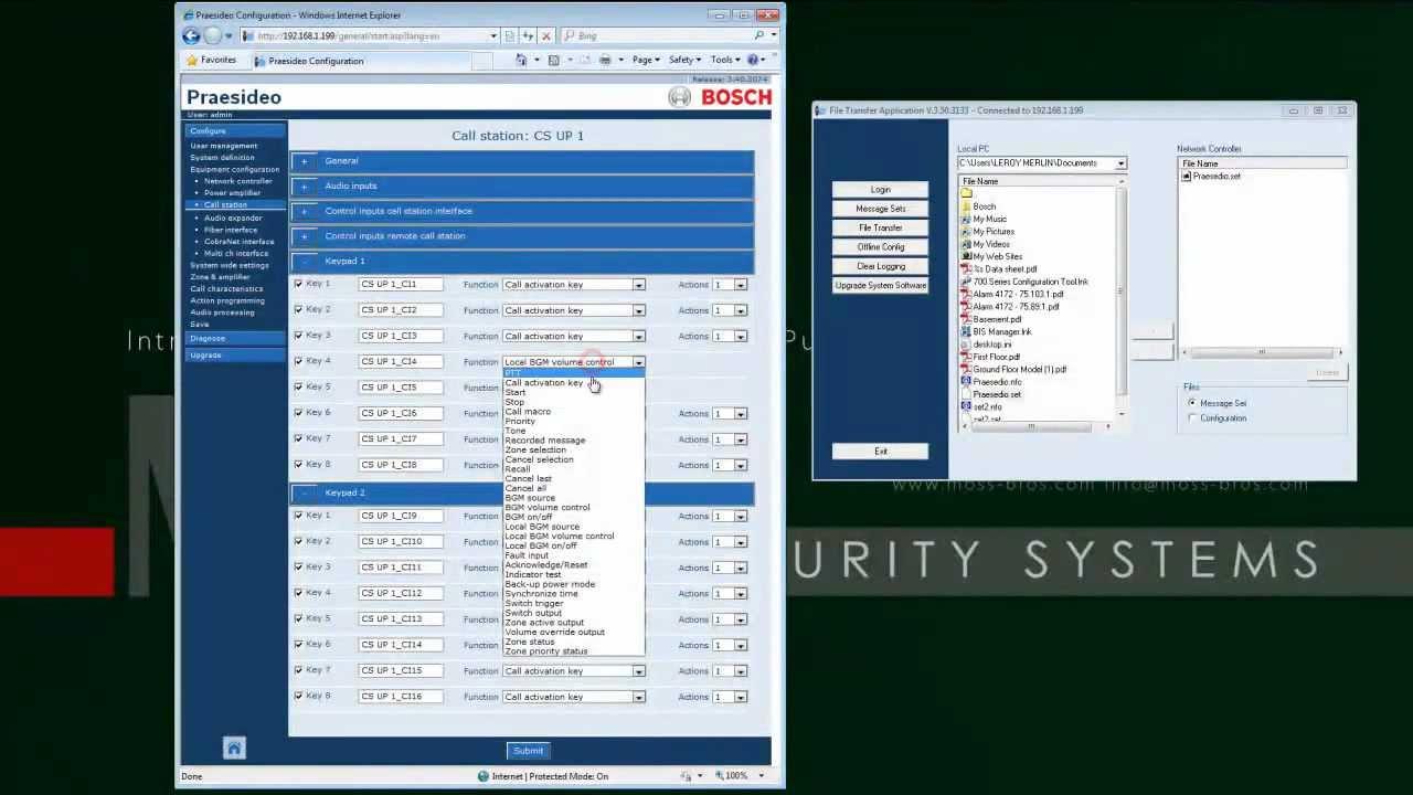 Praesideo 3 50 Software Installation Call Macro And Call