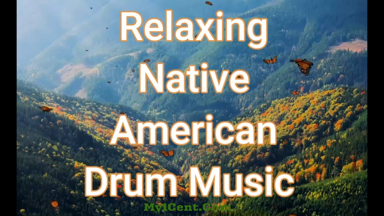 Relaxing Native American Drum Music With Water Sound Youtube