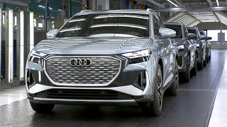 Audi Q4 e-tron 2022 - PRODUCTION plant in Germany (This is how it's made)