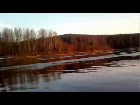 река Вишера возле поселка Вая.