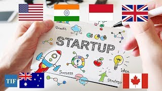 List of Countries having highest no of startups