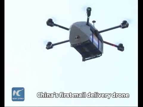Catchy PR stunt, or long-term strategy? China Post's first delivery drone