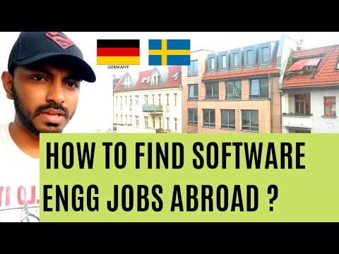How To Find Software Engg Jobs Abroad | Germany Sweden Netherlands Stockholm