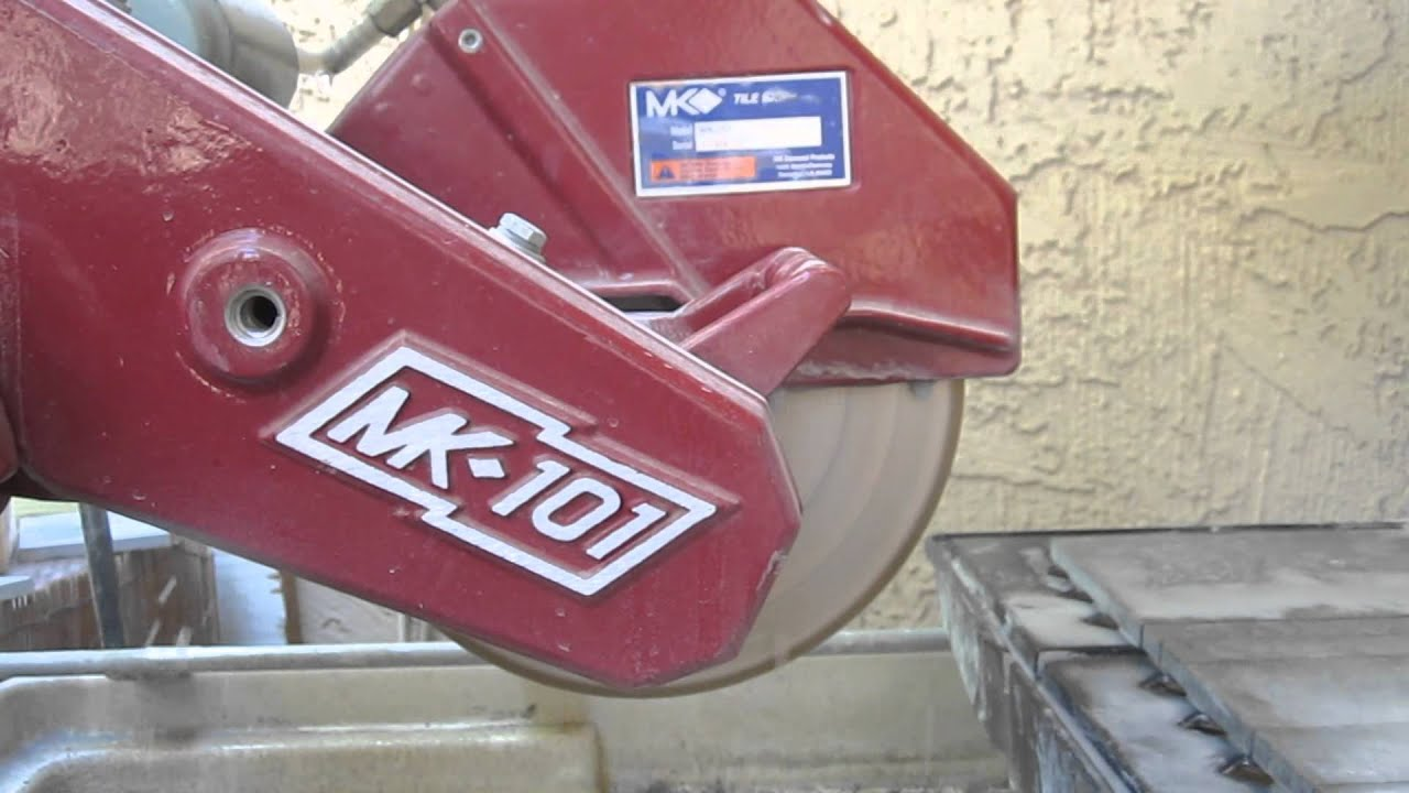 Mk 101 Tile Saw By Diamond In Action