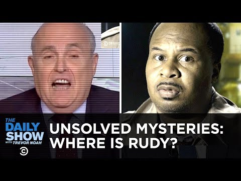 Unsolved Mysteries: What Happened to Rudy Giuliani? | The Daily Show