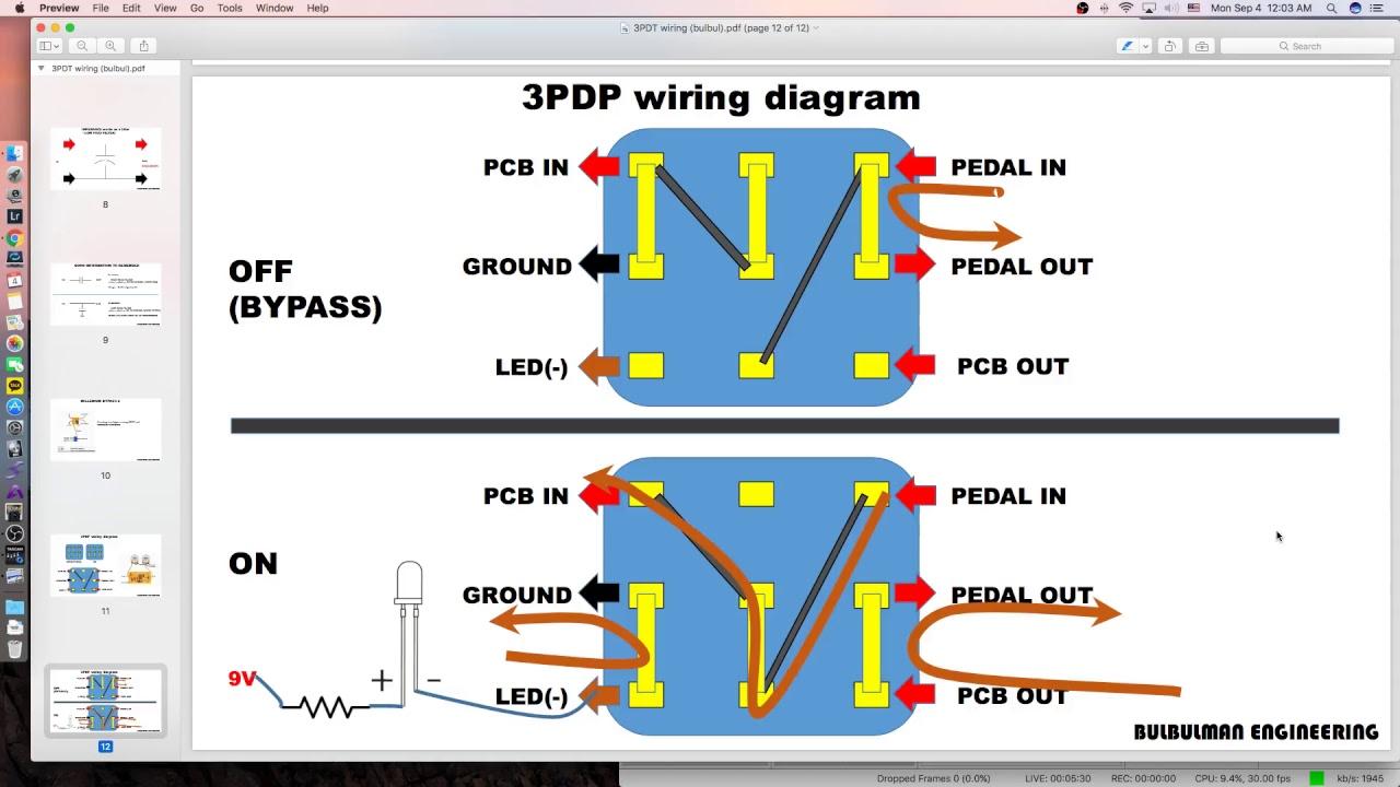 3pdt Wiring Diagram - Wiring Diagram Schematics on