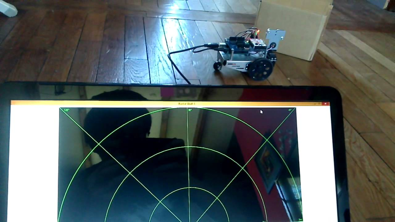 projet isn radar arduino youtube. Black Bedroom Furniture Sets. Home Design Ideas