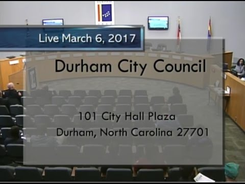 Durham City Council March 6 2017 Youtube
