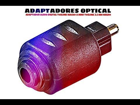 Video de Adaptador audio digital toslink macho a mini toslink 3.5 mm  Negro