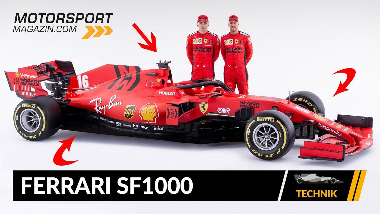 Formel 1 Autos 2020 Ferrari Sf1000 Technik Check Youtube