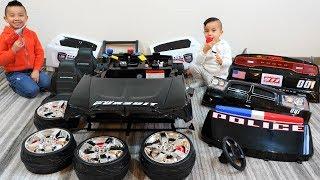 POLICE CAR Ride On Racing Fun With CKN Toys