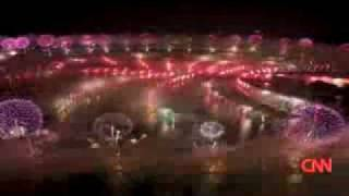 Atlantis, fireworks display on Palm Jumeirah, Dubai